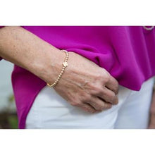 Load image into Gallery viewer, eNewton - Signature Cross matte gold BRACELET