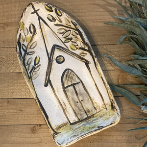 Etta B Pottery Church Collection:  Roots platter