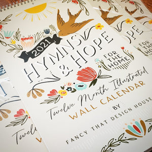 Hymns & Hope - wall calendar