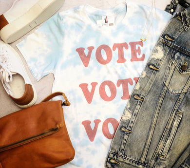 NEW - tie dyed VOTE tee