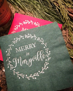 Merry in Maryville - cocktail napkins