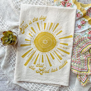 "HYMN Tea Towel : ""This is the Day That the Lord Has Made"""