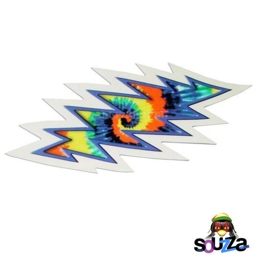 "3.25""x6.25"" Grateful Dead Tie-Dye Lightning Bolt Sticker"