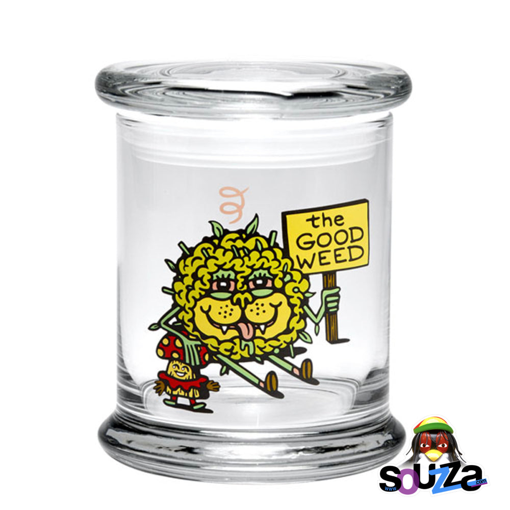 'The Good Weed' Pop Top Glass Jar with a rubber gasket by 420 Science Size Large
