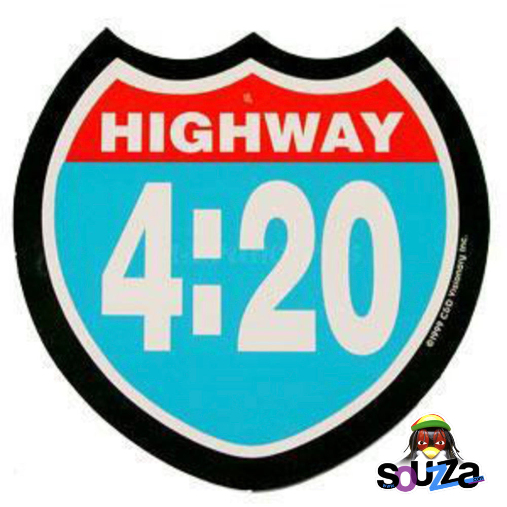 "4""x4"" Highway 420 Sticker"