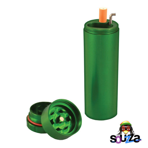 All In 1 Metal Smoke Stopper w/Poker & Grinder - Green