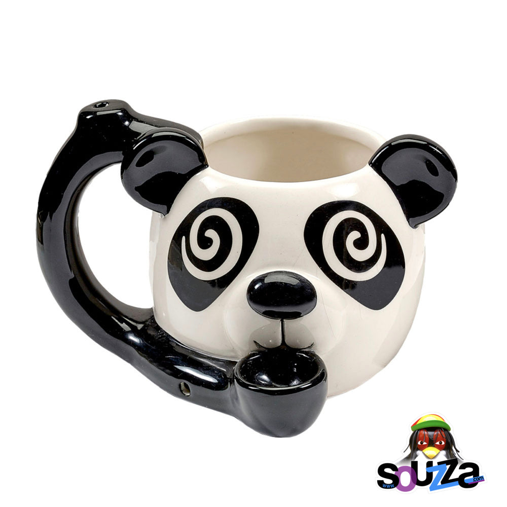 Buzzed Panda Roast and Toast Ceramic Mug Pipe | 19oz