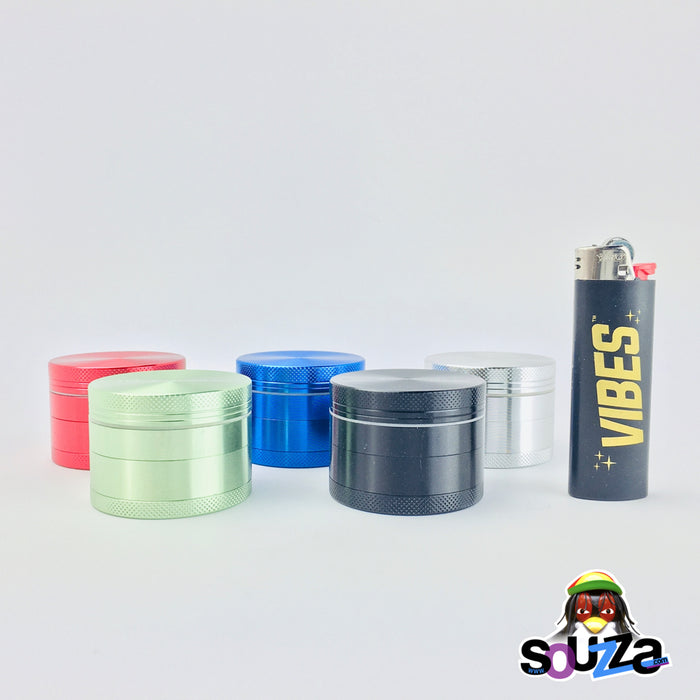 "Cali Crusher O.G. 4-Piece Grinder 2"" - Multiple Colors Size Comparison"