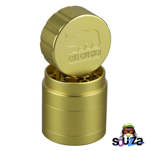 "Cali Crusher 2.0 Pocket Grinder 1.85"" - Gold"