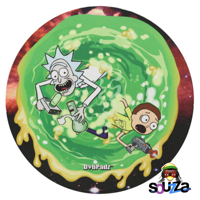 "DabPadz Round Fabric Top - 8"" / Richard & Marty Wax Portal RICK AND MORTY DESIGN"