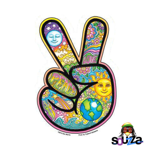"4""x6"" Dan Morris Peace Hand Indoor/Outdoor Sticker"