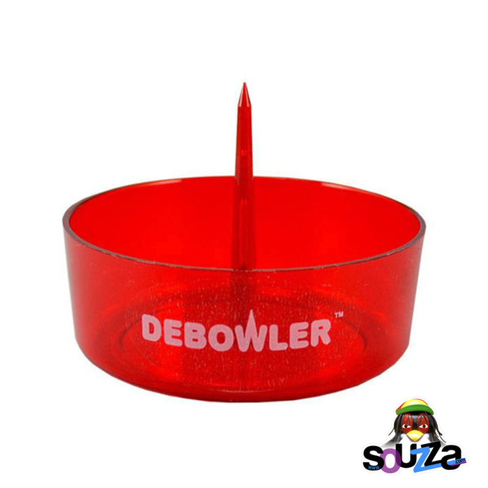 Transparent Red Debowler Ashtray