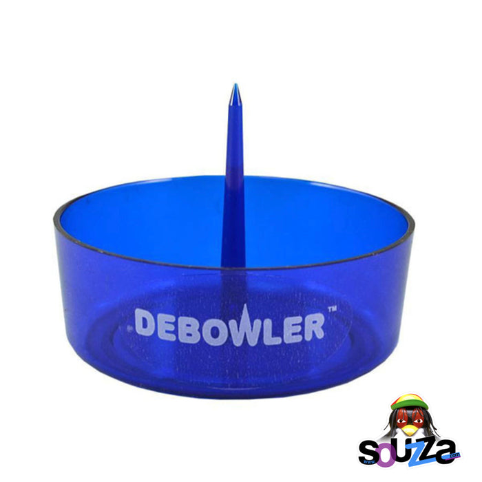 Transparent Blue Debowler Ashtray