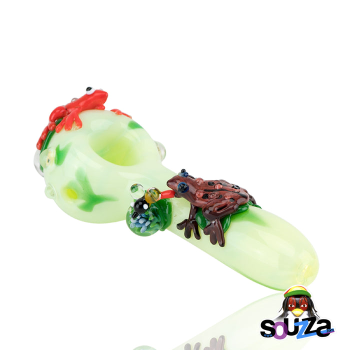 Empire Glassworks Ribbit Frog Hand Pipe