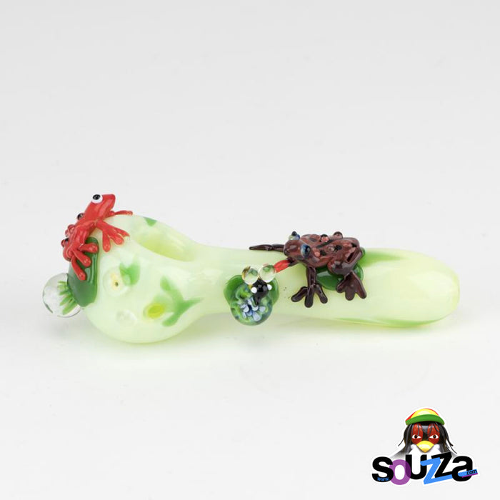 Empire Glassworks Ribbit Frog Hand Pipe Full Side View