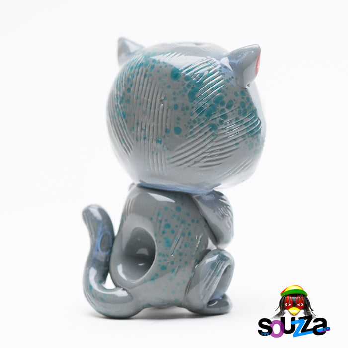 Empire Glassworks Galacticat UV Reactive Hand Pipe Back View