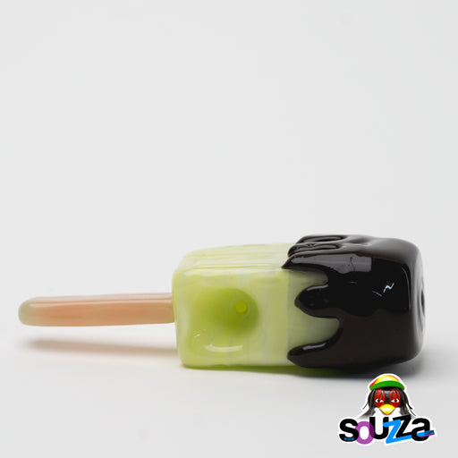 Empire Glassworks Melon Popsicle Hand Pipe Side Top View