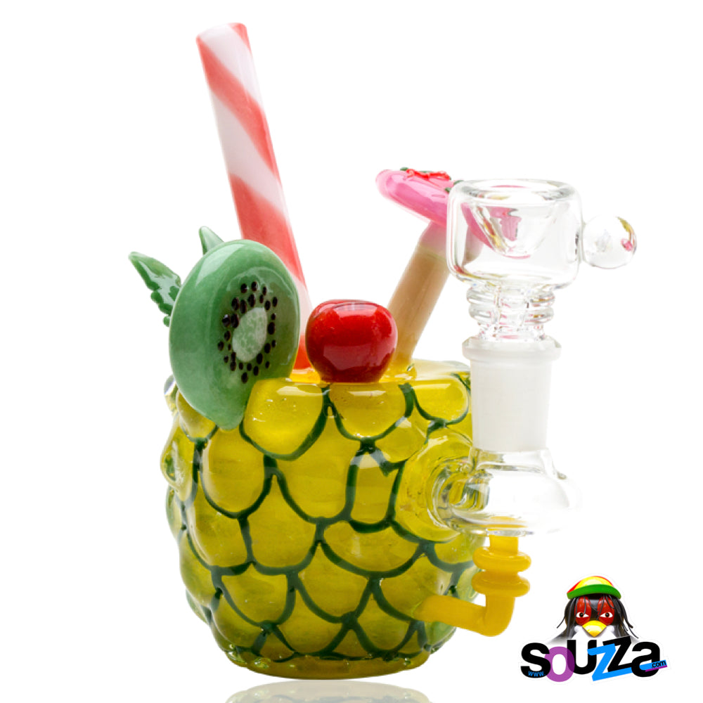 Empire Glassworks Pineapple Paradise Mini Water Pipe Front