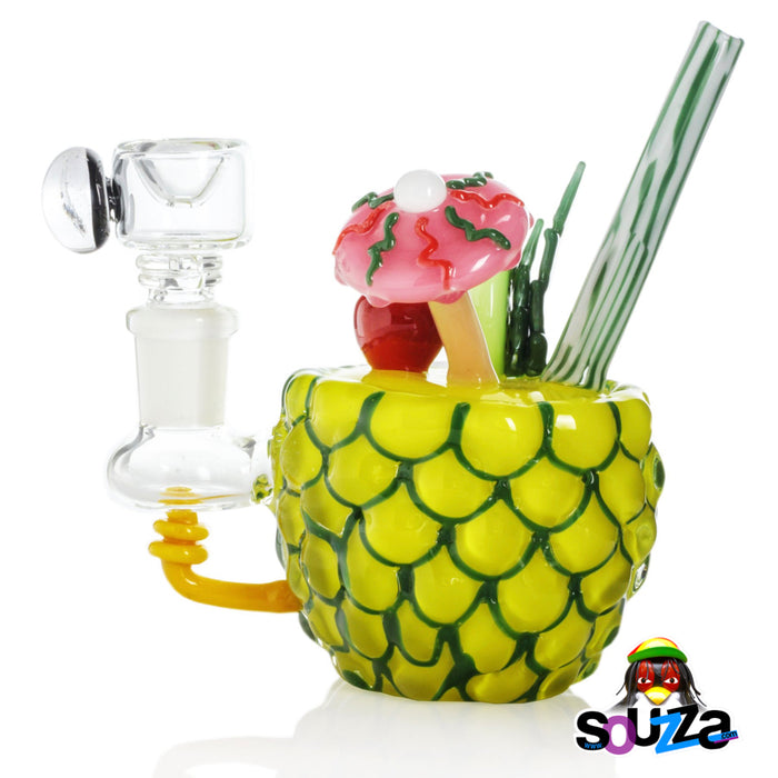 Empire Glassworks Pineapple Paradise Mini Water Pipe Side View