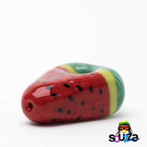 Empire Glassworks Watermelon Hand Pipe Laying Down View