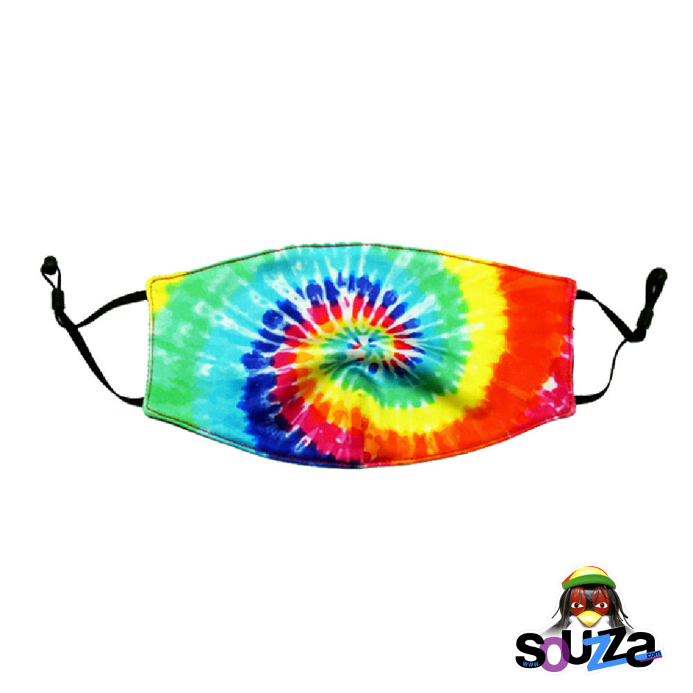 Fashionable Face Masks - Tie Dye Rainbow