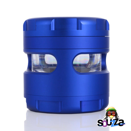 "GRAV® 4-Piece Grinder 2.25"" Blue Side View"