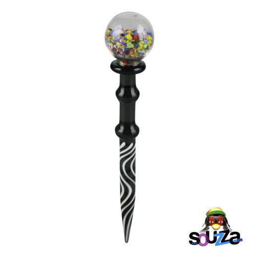 "Glass Gumball Dab Tool - 5"" long"