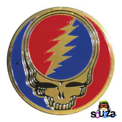 "Grateful Dead, Steal Your Face Metal Sticker - 3"" Round Sticker"