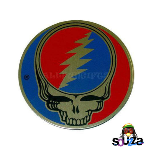 "Grateful Dead, Steal Your Face Metal Sticker - 2"" Round Sticker"