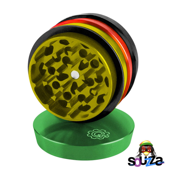 "Grindhouse 4-Piece Grinder 2"" - Multiple Colors - Rasta"
