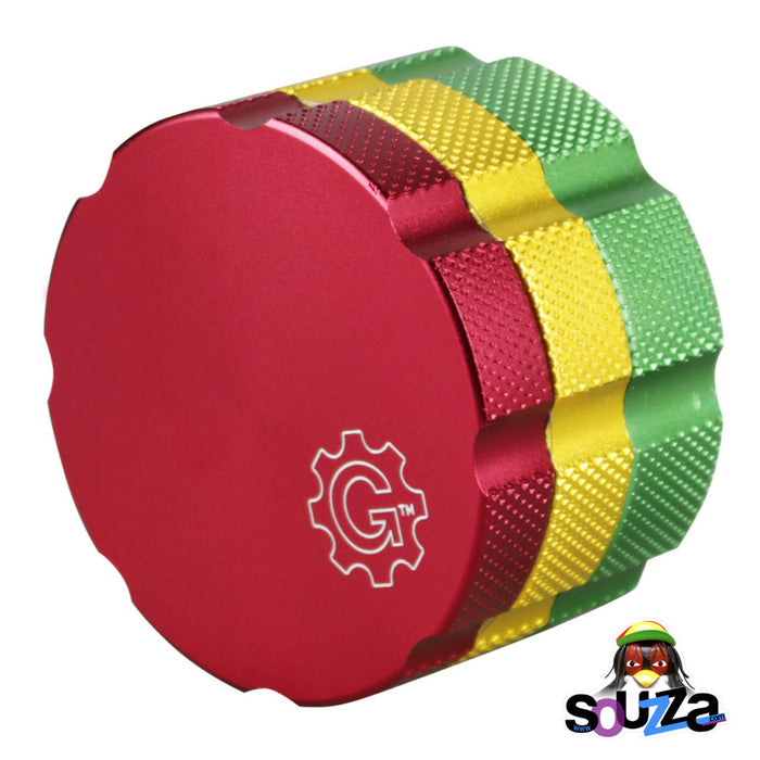 "Grindhouse Magnetic Supreme 4 Piece Grinder 2.5"" - Multiple Colors Rasta Closed"