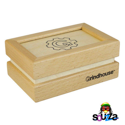 Grindhouse Wooden Sifter Pollen Box - Drawer Style Closed