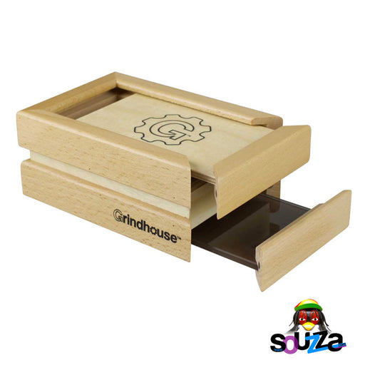 Grindhouse Wooden Sifter Pollen Box - Drawer Style Sliding Open