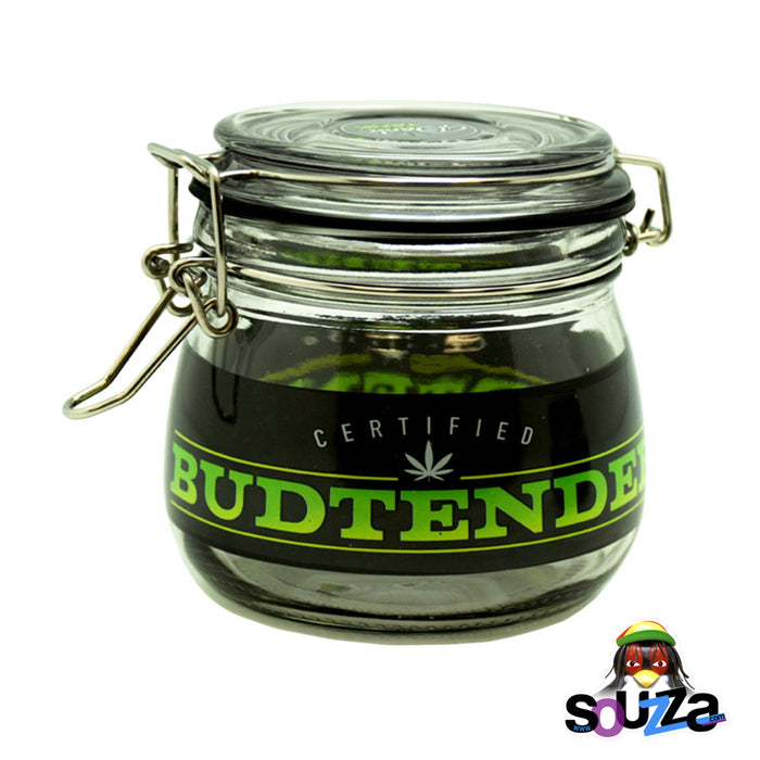 Dank Tank Small Herb Glass Storage Jar - Certified Budtender Design