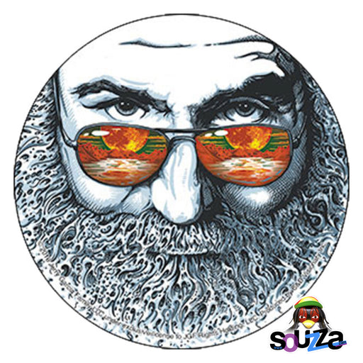 "Jerry Garcia Palm Sunday Sticker - 4""x4"""