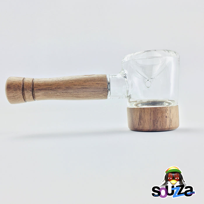 MARLEY NATURAL™ Glass and Walnut Hand Pipe Full Size View Right
