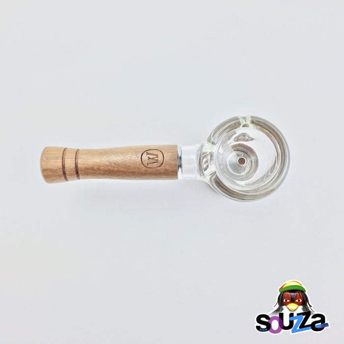 MARLEY NATURAL™ Glass and Walnut Hand Pipe Top Down View