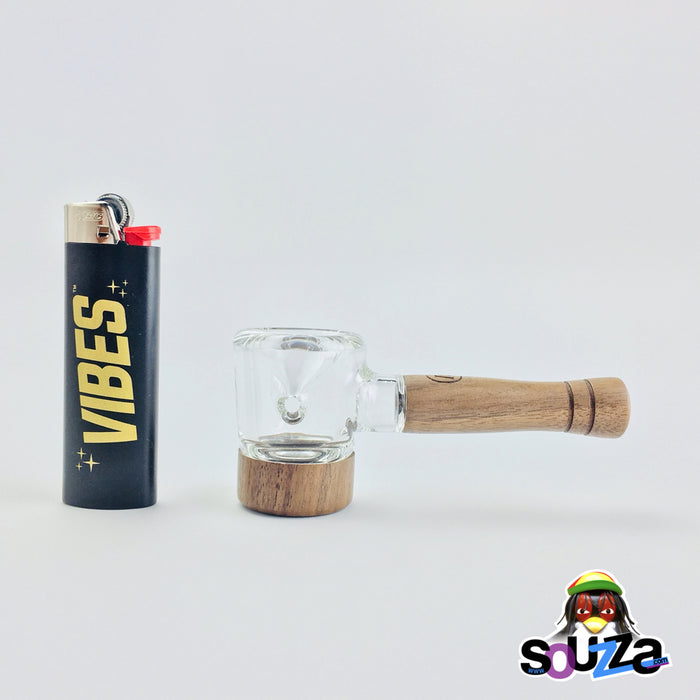 MARLEY NATURAL™ Glass and Walnut Hand Pipe Size Comparison View