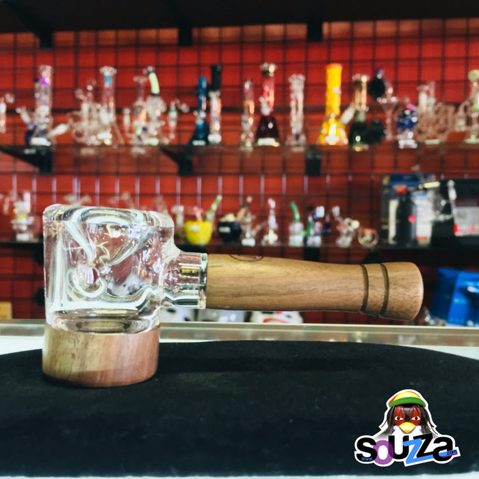 MARLEY NATURAL™ Glass and Walnut Hand Pipe Shop View