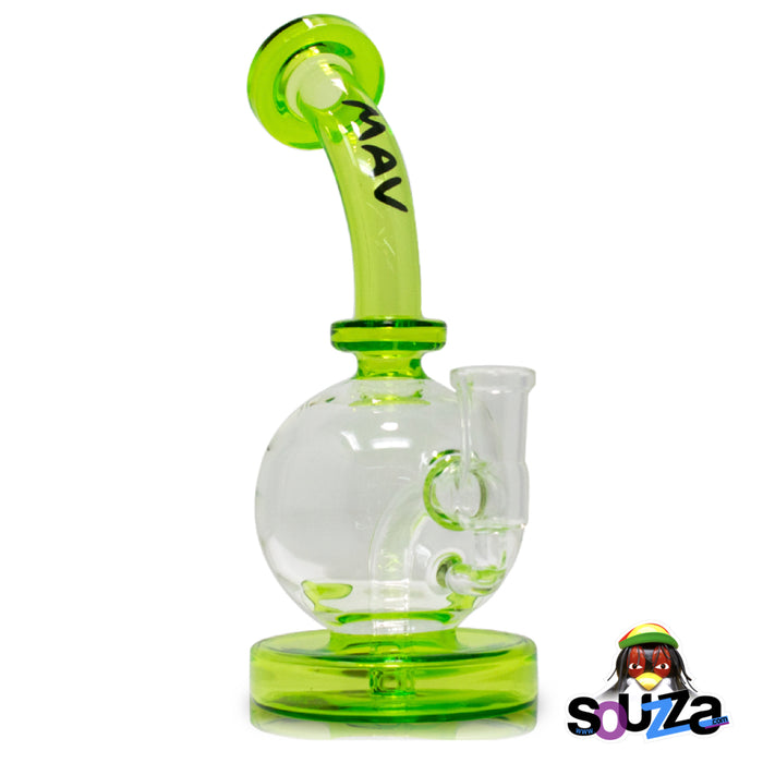 MAV Glass Bulb Water Pipe - Ooze Color