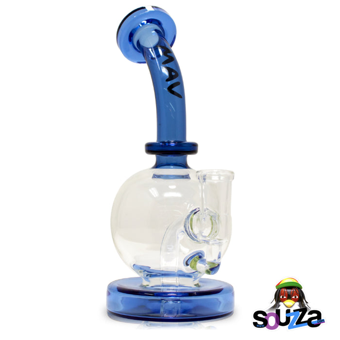 MAV Glass Bulb Water Pipe - Blue Color