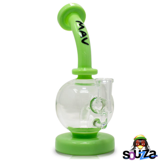 MAV Glass Bulb Water Pipe - Seafoam Color