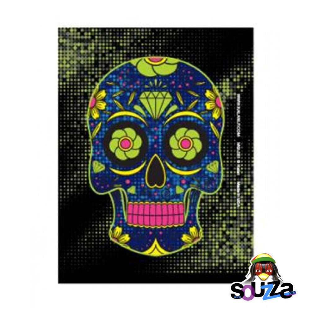 Green Sugar Skull Magnet