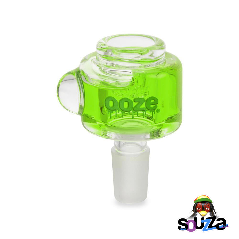 Ooze Glyco Screened Glass Bowl - Slime Green