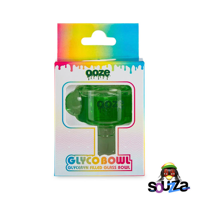 Ooze Glyco Screened Glass Bowl - Slime Green with Box