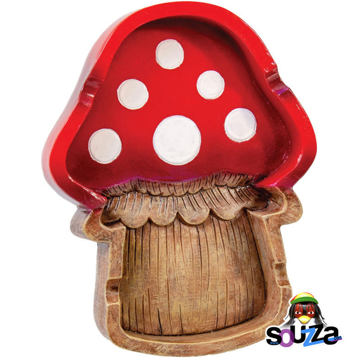 "Polyresin Mushroom Ashtray - 5""x6.25"""