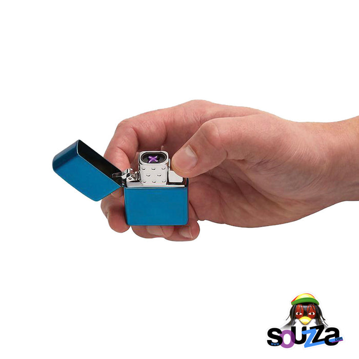 Zippo Arc Rechargeable Lighter Insert - Showing the Dual Plasma Beam Arc