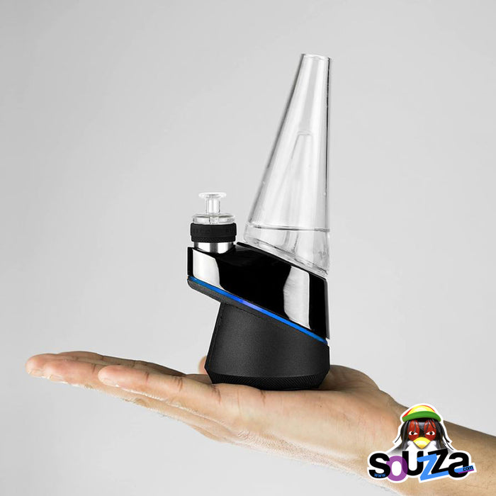 Puffco Peak Concentrate Smart Rig Side View with hand Comparison