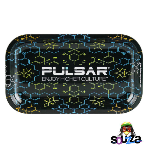 Pulsar THC Molecule Metal Rolling Tray - Multiple Sizes