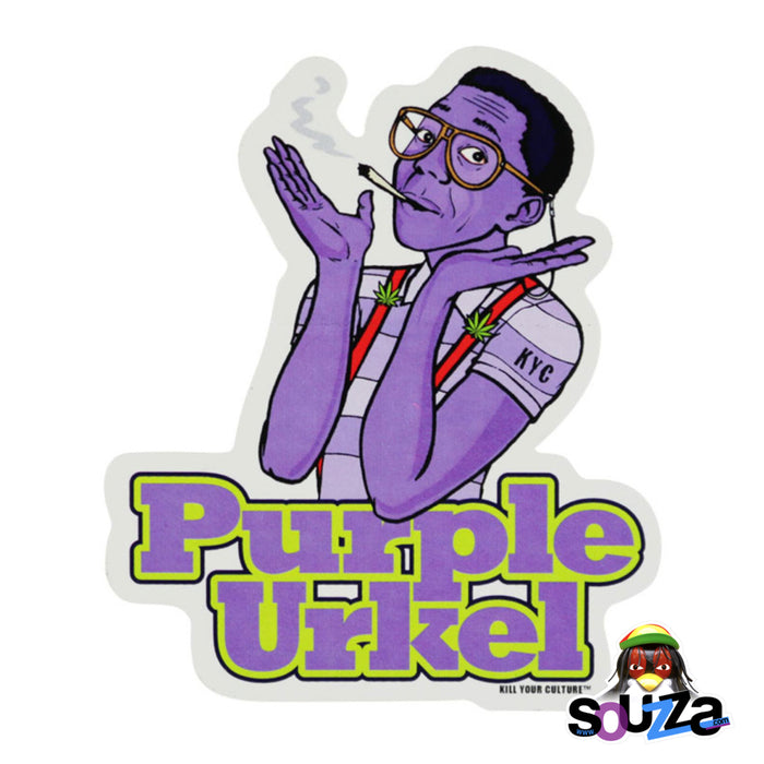 "Purple Urkel Vinyl Sticker - 4.25""x5"""